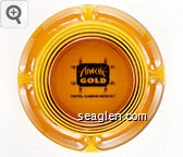 Apache Gold, Hotel Casino Resort - Black imprint Glass Ashtray
