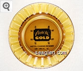 Apache Gold, Hotel Casino Resort, San Carlos, AZ. - Black imprint Glass Ashtray