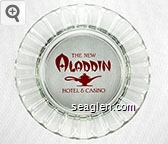 The New Aladdin Hotel & Casino - Red imprint Glass Ashtray