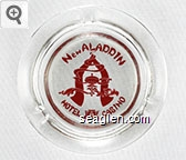 New Aladdin, Hotel Casino - Red imprint Glass Ashtray