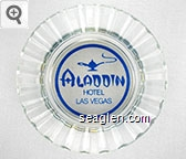 Aladdin Hotel, Las Vegas - Blue imprint Glass Ashtray
