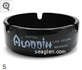 Hotel Aladdin Las Vegas, Nevada - White imprint Glass Ashtray