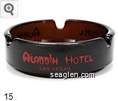 Aladdin Hotel, Las Vegas - Red imprint Glass Ashtray