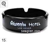 Aladdin Hotel, Las Vegas - White imprint Glass Ashtray