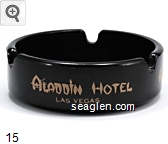 Aladdin Hotel, Las Vegas - Gold imprint Glass Ashtray