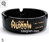 Hotel Aladdin Las Vegas, Nevada - Gold imprint Glass Ashtray