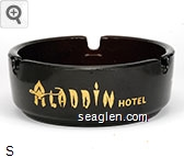 Aladdin Hotel, ''on the sparkling strip'', Las Vegas, Nevada - Gold imprint Glass Ashtray