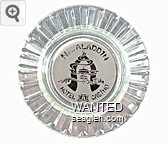 New Aladdin, Hotel, Casino - White imprint Glass Ashtray