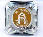 New Aladdin, Hotel, Casino - Yellow imprint Glass Ashtray