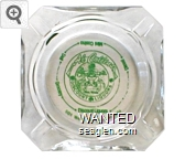 Al Collins Discount Liquors, 501 West 4th Reno Nevada, Discount Liquors, Grocery, Deli, Mini Casino, Diesel - Green on white imprint Glass Ashtray