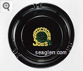 Artichoke Joe's, 659 Huntington, San Bruno, California - Yellow and green imprint Glass Ashtray