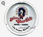 Arizona Charlie's Hotel - Casino, Las Vegas, Nevada - Red and black imprint Porcelain Ashtray