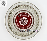 Bally's, Las Vegas - Reno - Atlantic City - Maroon imprint Glass Ashtray