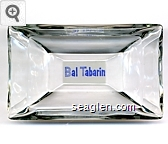 Bal Tabarin - Blue on white imprint Glass Ashtray