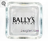 Bally's, Las Vegas - Black imprint Glass Ashtray