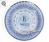Bally's, Las Vegas - Green imprint Glass Ashtray