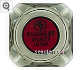 BC, Barbary Coast, Las Vegas - Black on red imprint Glass Ashtray