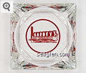Barney's - Red imprint Glass Ashtray
