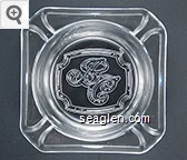 ''BC'' logo - Molded imprint Glass Ashtray