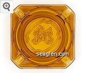 BC - Molded imprint Glass Ashtray