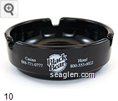 Casino 888-771-0777, Fond du Lac, Black Bear Casino & Hotel, Hotel 800-553-0022 - White imprint Glass Ashtray