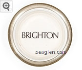 Brighton - Brown imprint Glass Ashtray