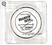 Lloyd & Pete's, Brandin' Iron Lounge, Elko, Nevada - Black imprint Glass Ashtray