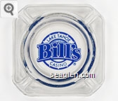 Lake Tahoe, Bill's Casino - Blue imprint Glass Ashtray