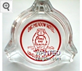 Big Meadow Hotel, Food, Bar, Casino, Lovelock, Nevada - Red imprint Glass Ashtray