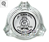 Big Meadow Hotel, Food, Bar, Casino, Lovelock, Nevada - Black imprint Glass Ashtray