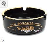 Hotel Bonanza Saloon, Las Vegas, Nevada - Gold imprint Glass Ashtray
