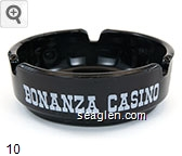 Bonanza Casino, Reno - White imprint Glass Ashtray