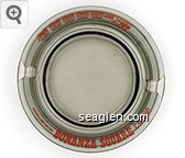 Reno, Nevada, Bonanza Square Casino - Red imprint Glass Ashtray