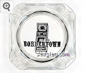 Bordertown - Black imprint Glass Ashtray