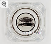 Bordertown Casino - Restaurant - Brown on white imprint Glass Ashtray