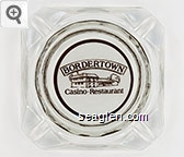 Bordertown, Casino - Restaurant - Brown on white imprint Glass Ashtray
