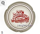 Boomtown, 25th Silver Anniversary, 1967-1992 - Red imprint Glass Ashtray