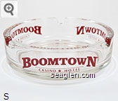 Boomtown Casino * Hotel, Reno, NV - Red imprint Glass Ashtray