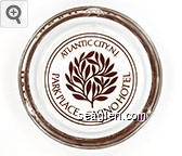 Atlantic City, N.J., Park Place Casino Hotel - Brown imprint Glass Ashtray