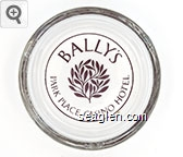 Bally's Park Place Casino Hotel - Brown imprint Glass Ashtray