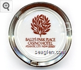 Bally's Park Place, Casino Hotel, Atlantic City. New Jersey - Brown imprint Glass Ashtray