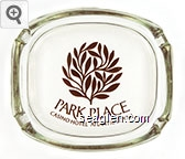 Park Place, Casino Hotel Atlantic City. N.J. - Brown imprint Glass Ashtray