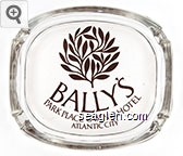 Bally's, Park Place Casino Hotel, Atlantic City - Brown imprint Glass Ashtray
