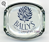 Bally's, Park Place Casino Hotel, Atlantic City - Blue imprint Glass Ashtray
