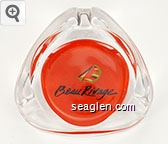 Beau Rivage - Black on red imprint Glass Ashtray