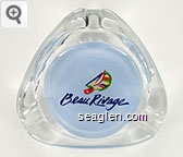 Beau Rivage - Dk blue on lt blue imprint Glass Ashtray