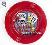 Buffalo Saloon, Deadwood, South Dakota - Multicolor imprint Metal Ashtray