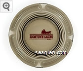 Boomtown Casino, Biloxi - Red imprint Glass Ashtray