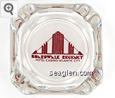 Boardwalk Regency Hotel - Casino - Atlantic City - Red on white imprint Glass Ashtray
