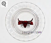 Bonanza Inn - Casino, Fallon Nevada, 1-702-423-6031 - Black and red imprint Glass Ashtray